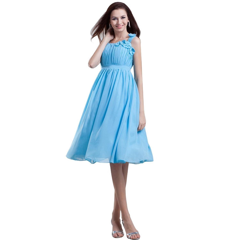 Jspoir Melodiz Women's Chiffon Knee-Length Empire Evening Dress