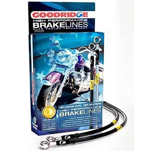 グッドリッジ GOODRIDGE Ebony2 フロント ブレーキライント キット 12年以降 FLSTF、FLSTN、FLS +4インチ(102mm) 037166 HD0116-1FPBK+4   B01N8TU8OJ