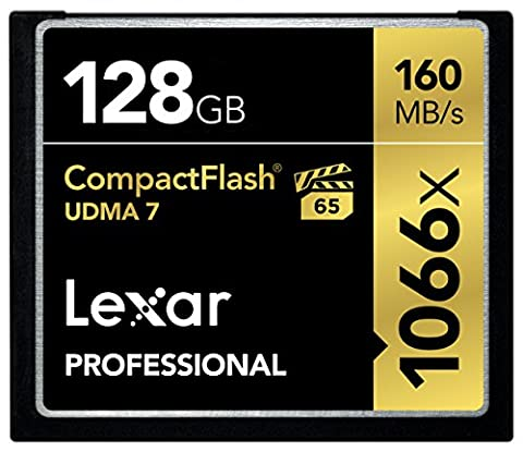 Lexar Professional 128GB 1066x Speed 160MB/s CompactFlash Memory Card
