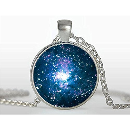 - Galaxy Glass Pendant , Galaxy Charm , Solar System Pendant ,Galaxy Necklace,galaxy Jewelry