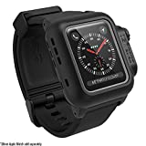 Catalyst case for 38mm Apple Watch Series 3 & 2 – Waterproof Shock Proof Impact Resistant Apple Watch case [rugged iWatch protective case]+ Premium Soft Silicone apple watch band, Stealth Black