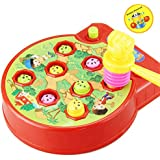 Personalized Learning Hammer Pounding Toys, Great Fun Play & Learn Toy Pounding Bench Toys With Mallet Motion Sound Effects Hammer for Toddlers