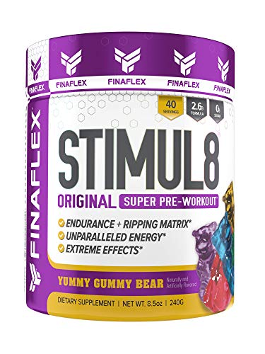 , Original Super Pre-Workout, Stimulate Workouts Like Never Before, Unparalleled Energy, Extreme Effects, Ultimate Preworkout for Men and Women, 40 Servings (Yummy Gummy Bear) ()