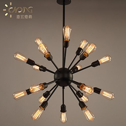 WYMBS Spider satellite in black multihead chandeliers retro aisle abdullahman loft warehouse Living Room Restaurant Bedroom Villas Study Hall Bar Coffee Shop creative Decorative Lamps ()