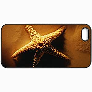 Customized Cellphone Case Back Cover For iPhone 5 5S, Protective Hardshell Case Personalized Sea Star Black