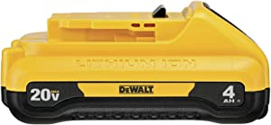 DEWALT DCB240 20V MAX 4Ah Compact Lithium Ion Battery