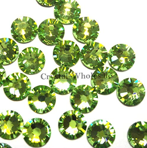 Swarovski 2028 Foiled Flatbacks SS9 Peridot No Hotfix Rhinestones, Choose Quantity (288) ()