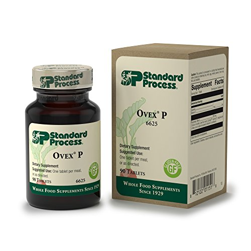 Standard Process - Ovex P - Ovarian Function Support Supplement, Helps to Balance Female Hormones, Gluten Free - 90 Tablets -