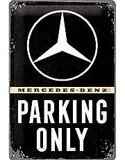 Nostalgic-ArtMercedes-Benz - Parking Only - Gift idea for car accessoires Retro Tin SignMetal PlaqueVintage design for decoration20 x 30 cm