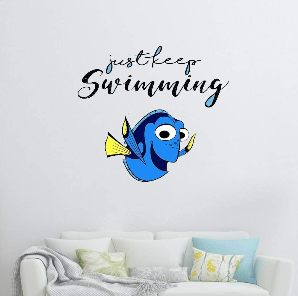 NA Animated Movie Sea Animals Stickers Finding Dory - Just Keep Swimming, Finding Nemo Sticker for Laptop, Phone, Cars, Vinyl Funny Stickers Decal for Laptops, Guitar, Fridge