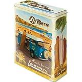 Nostalgic-Art 30317 Volkswagen VW Bulli, Beetle - Ready for the Summer / Beach, Vorratsdose XL