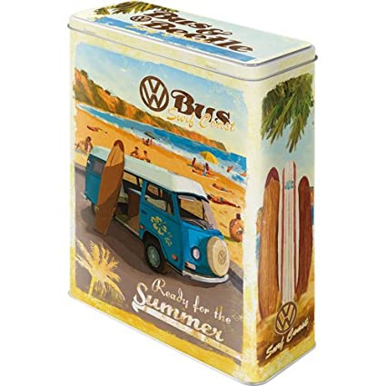 Vorratsdose Flach VW Bulli Lets Get Lost Nostalgic-Art 30701 Volkswagen