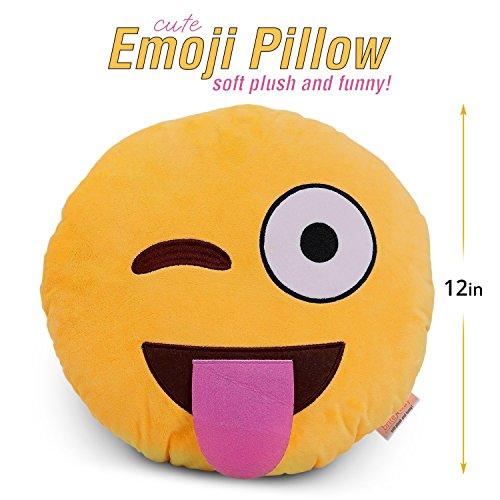 Emoji Pillow Sticking Tongue Winking product image