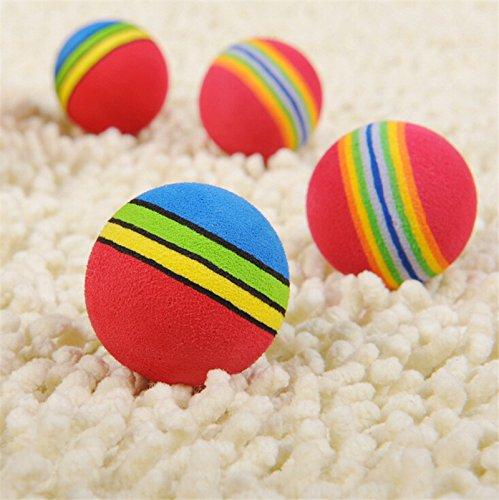 (Artlalic) Pet Toy Rainbow EVA Foam Balls for Cat Dog Training Playing Practice, 10 Count)