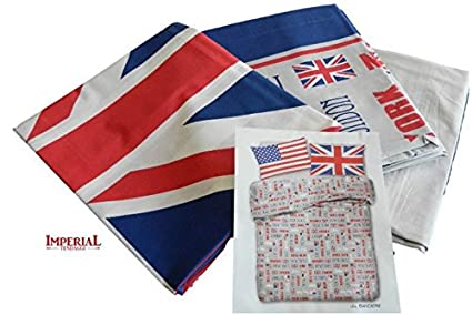 Lenzuola Matrimoniali In Inglese.Living Completo Lenzuola Cotone Matrimoniale Bandiera Americana E