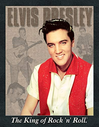 Elvis Presley The King of Rock n Roll Montage Retro Vintage Decor Metal Tin Sign