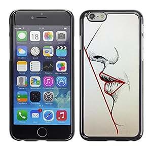 Shell-Star Arte & diseño plástico duro Fundas Cover Cubre Hard Case Cover para Apple iPhone 6(4.7 inches) ( Symmetry Woman Lips Nose Face Art Beauty )