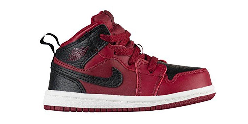 Nike Jordan Mid 1 Team Red/Black-Summit White (TD) (6 M US Toddler)
