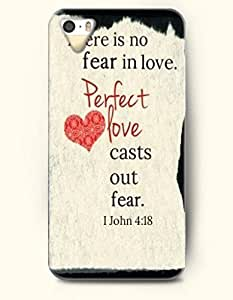iPhone 4 4S Case OOFIT Phone Hard Case **NEW** Case with Design There Is No Fear In Love. Perfect Love Casts Out Fear.1 John 4:18- Bible Verses - Case for Apple iPhone 4/4s