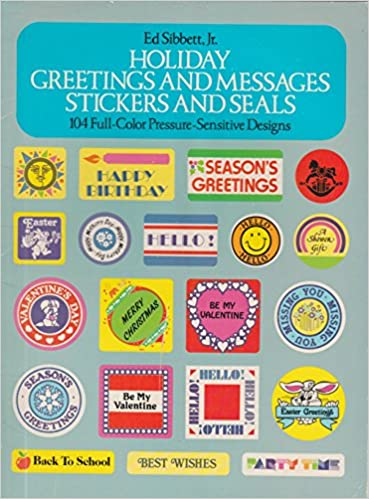 Holiday Greetings and Messages Stickers and Seals: Ed