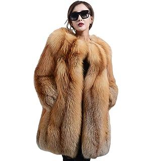 Amazon.com: Chaqueta de visón con capucha larga para mujer ...