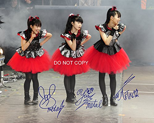 Babymetal Japenese Heavy Metal Trio Reprint Signed Autographed 8x10 Photo #2 RP ? from Loa_Autographs