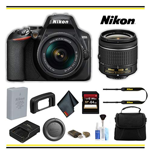 Nikon D3500 DSLR Camera with 18-55mm Lens (1590) Starter Bundle