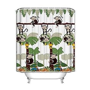 Amazon.com: Monkey Bathroom Decor - Monkey Shower Curtain ...