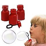 Toy Cubby Red Hexagon Bubbles Mini Bottles - 48 Pcs