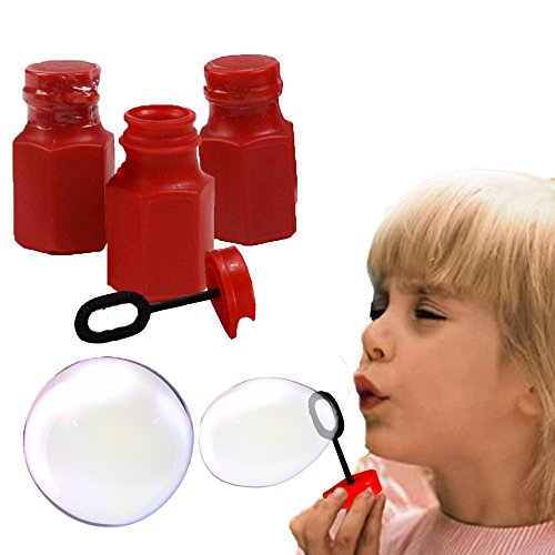 Toy Cubby Red Hexagon Bubbles Mini Bottles - 48 Pcs by Toy Cubby