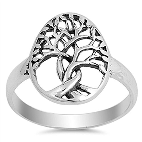 Tree of Life Twisted Knot Branch Ring New .925 Sterling Silver Band Size 9