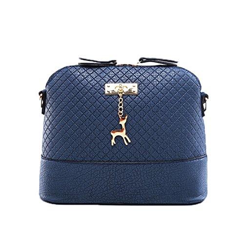 Pu Leather Soft Face Women Bag Wild Shoulder Messenger Bag Quilted Shell Bag Pendant Cute Deer