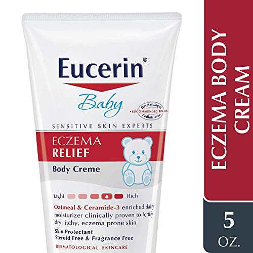 51Zw1bTXV5L - Eucerin Baby Eczema Relief Body Cream - Steroid & Fragrance Free For 3+ Months Of Age - 5 Oz. Tube