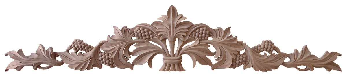 Inviting Home R20XL Sonoma Grape Motiff Maple hardwood Carving
