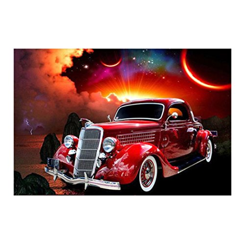 Pandaie New 5D Diamond Painting Kit -Car- DIY Crystals Diamond Rhinestone Painting Pasted Paint by Number Kits Cross Stitch Embroidery Decor Wall Stickers & Murals Bedroom