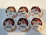 2013 Topps Chipz Philadelphia Phillies Team Set 6 Poker Chips