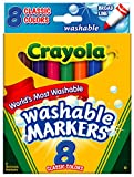Crayola FBA_58-7808 Washable Markers, Broad Point, Classic Colors, 8/Pack (58-7808), Pack of 3