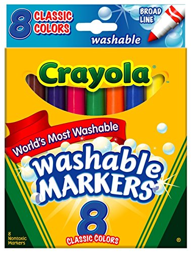 Crayola FBA_58-7808 Washable Markers, Broad Point, Classic Colors, 8/Pack (58-7808), Pack of 3 by Crayola