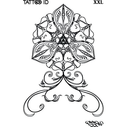 Tattoo Id Xxl Orchidee Fleur Lotus Tatouage Ephemere Temporaire