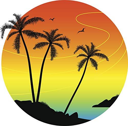 Palm Tree Refrigerator Magnet - BW MAG Magnet Cool Tropical Palm Tree Island Sunset Cartoon Icon (8