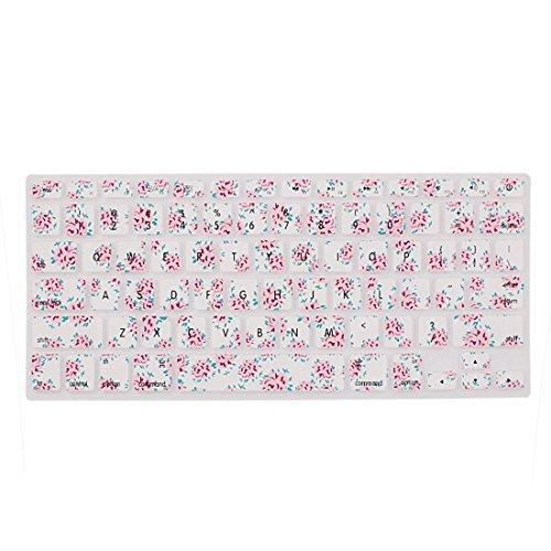 Amazon.com: eDealMax Patrón de teclado de silicona Floral de la piel cubierta de la película Para el ordenador portátil DE 13 pulgadas: Electronics