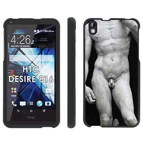 HTC Desire 816 Phone Cover, Michelangelo David - Mobiflare Black Slim Guard Armor Phone Case for HTC Desire 816 (Virgin Mobile 816 Cases)