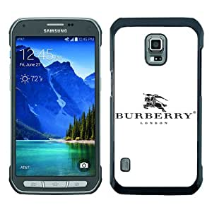 S5 Active Case,Burberry 54 Black Samsung Galaxy S5 Active Screen Cover Case Unique and Luxury Design