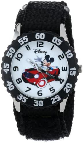 Disney Kids' W000975 Mickey Stainless Steel Time Teacher Watch with Nylon Strap