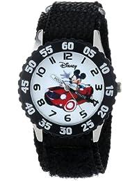 Kids' W000975 Mickey Stainless Steel Time Teacher Watch with Nylon Strap