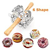 FashionMall Metal Revolving Donut Cutter Maker Machine Mold Pastry Dough Baking Roller For Cooking Baking (Aluminum)
