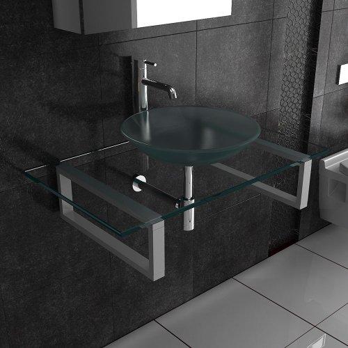 Glaswaschtisch / Alpenberger Waschplatz Serie 50 / Möbel aus Glas / Waschtische für Ihr exklusives Bad / Badezimmer / Waschschale /