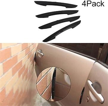 4pcs Car Door Edge Black Rubber Molding Trim Protector Bumper Strip Anti Scratch