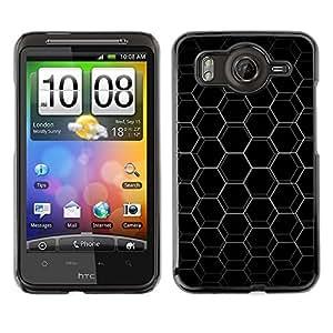 For HTC G10 - Abstract Hex Honeycomb /Caja protectora de pl???¡¯????stico duro de la cubierta Dise???¡¯???¡Ào Slim Fit/ - Super Marley Shop -