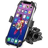 "WAAO Universal Premium Bike Phone Mount for Motorcycle - Bike Handlebars, Adjustable, Fits iPhone X, 8 | 8 Plus, 7 | 7 Plus, iPhone 6s | 6s Plus, Galaxy S7, S6, S5, Holds Phones up to 3.5"" Wide"